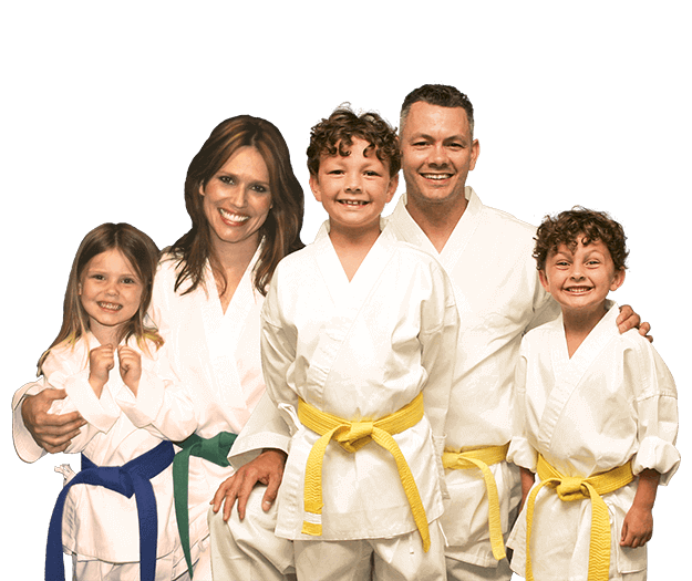 Martial Arts Lessons for Families in Carrollton TX - Group Family for Martial Arts Footer Banner