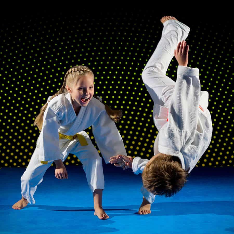 Martial Arts Lessons for Kids in Carrollton TX - Judo Toss Kids Girl