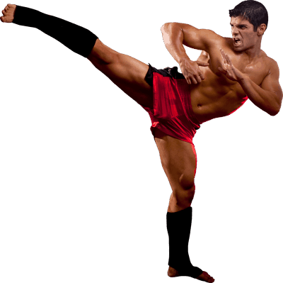 Mixed Martial Arts Lessons for Adults in Carrollton TX - MMA High Kick Man